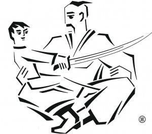 """Жорж Шанаєв Ілюстрація до книги """"Нартіада""""."""