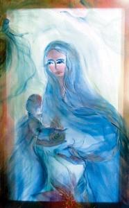 Богородица с младенцем.