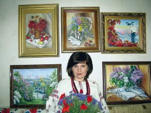 Светлана Клименко на персональной выставке.
