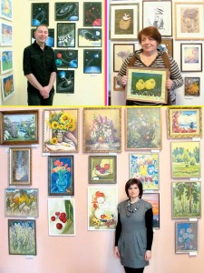 Художники презентують свою творчість.