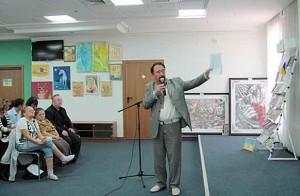 Виступ Ю.П. Дрюченка, голови Асоціації членів Національної спілки художників України учасників ліквідації наслідків аварії на ЧАЕС