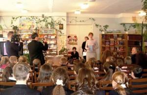 Презентацію починає Анна Бахман, завідувачка Центральної бібліотеки ім. О. С. Пушкіна.
