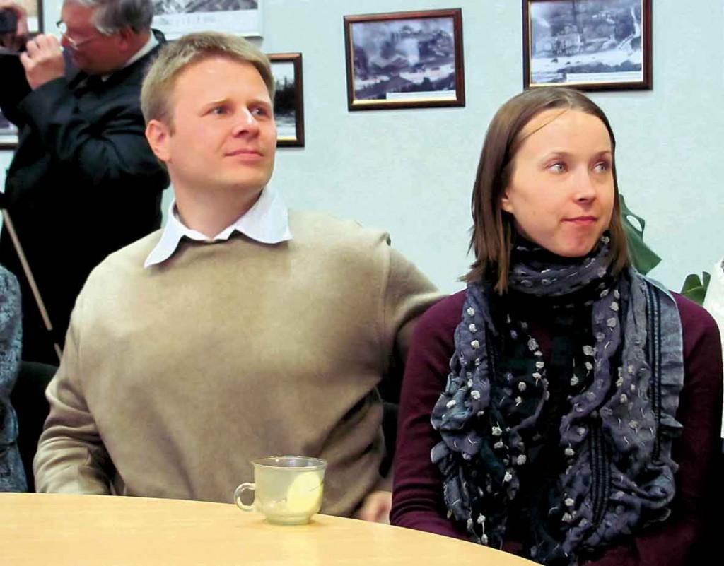 Дмитро, внук Маргарити Єніцької з дружиною Наталією.