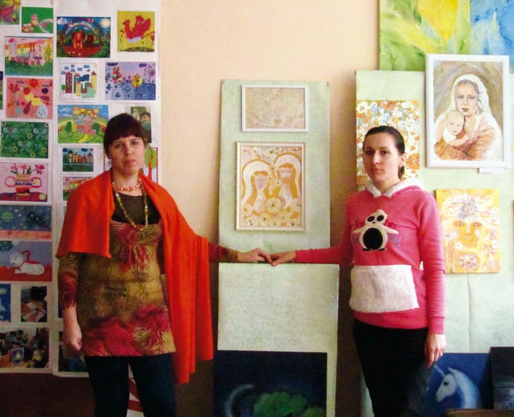 Формування експозиції. Ірина Дживаго та Алла Хіжняк. 5-6 листопада 2014 року.