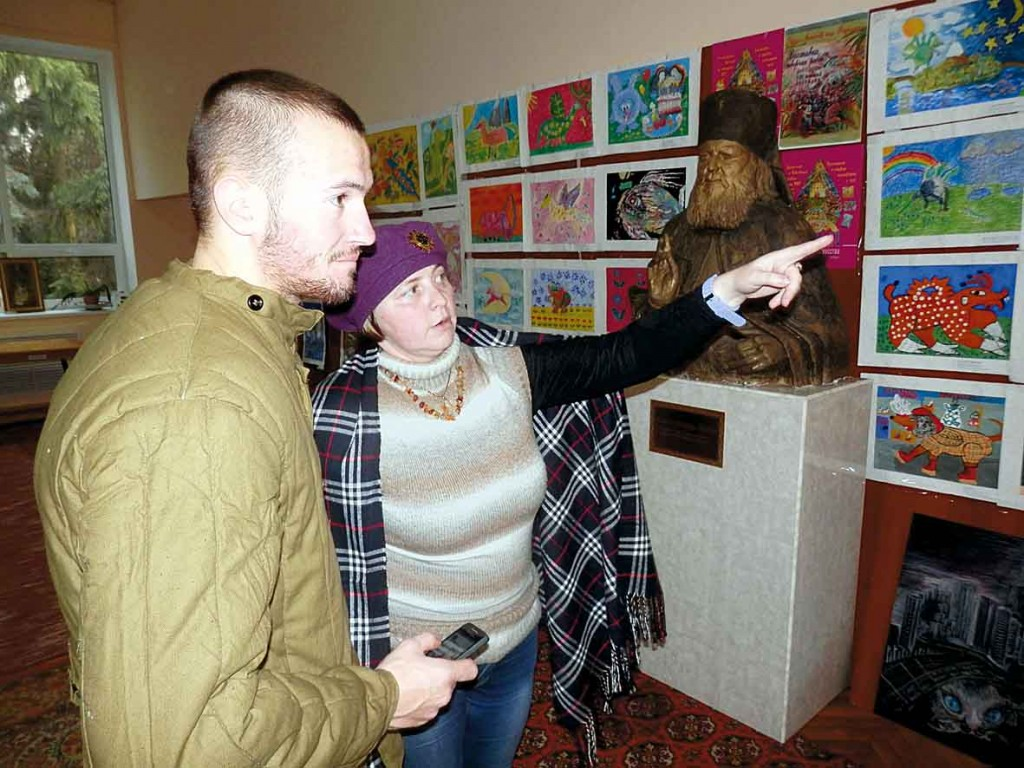 Спілкування на виставці. 7 листопада 2014 року.