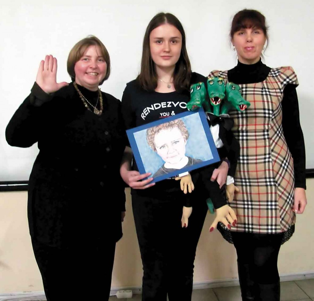 Наталія Веселицька, юна художниця Дарина, Ірина Дживаго.