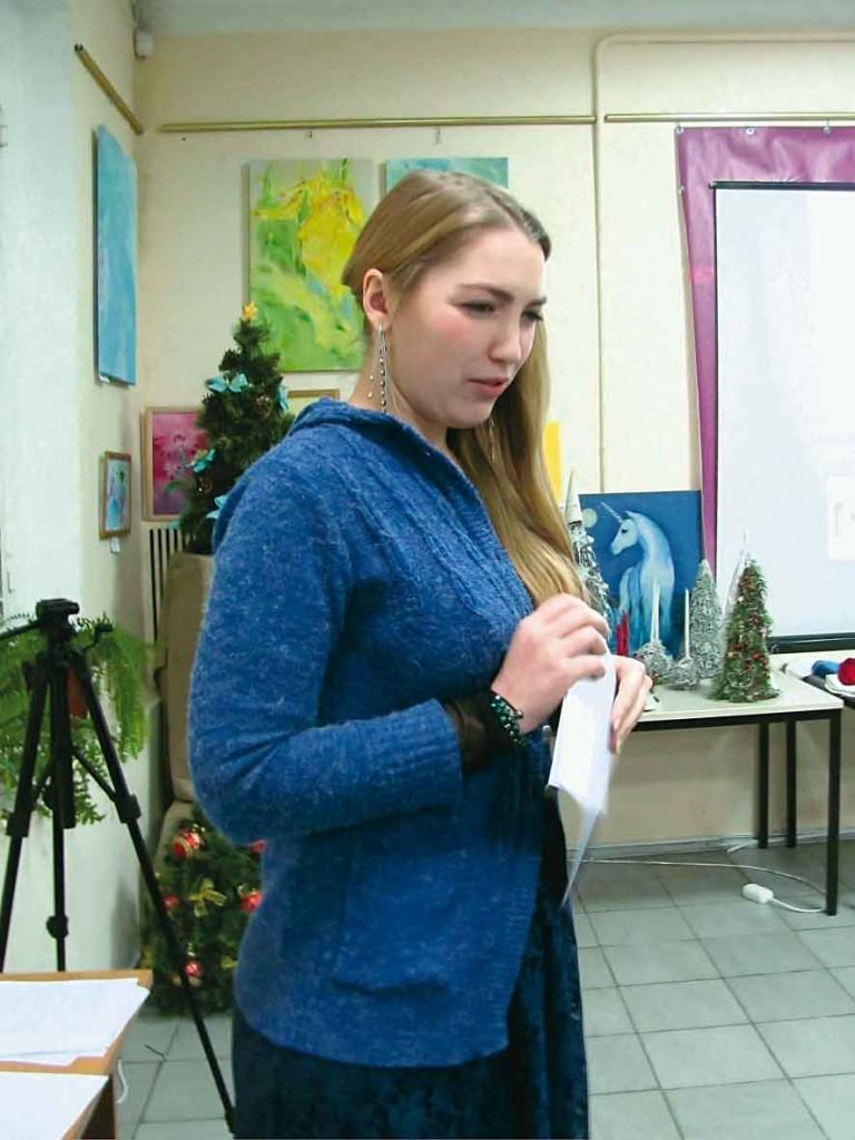 Учасниця Фестивалю-конкурсу літературного напрямку - Ольга Дживаго.
