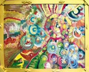 1) «Народження галактик», акріл