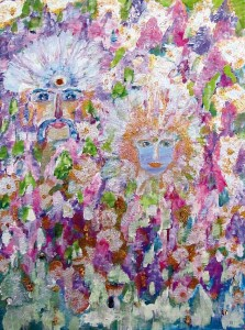 13) «В квітучому саду», акріл.