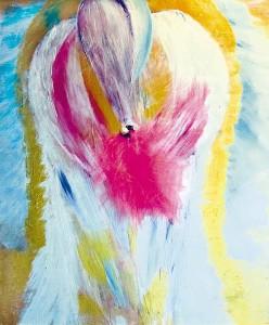 16) «Поцілунок янголів», акріл.