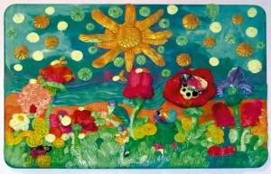 26) «Квітучий луг», ліплення з пластиліну.