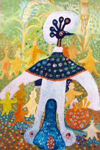 29) «Птахи щастя танцюють», акріл