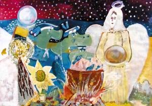 31) «Вечеря Ластика і Янгола», акріл_ok