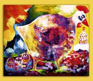 34) «Пасхальна курка», акріл