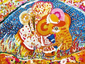 39) «Бджілко-слон повернувся», акріл