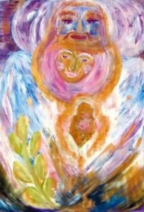 4) «Паросток любові», акріл.