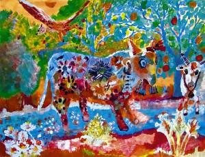 42) «Квітковий віл», акріл