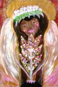 5) «Берегиня», акріл.