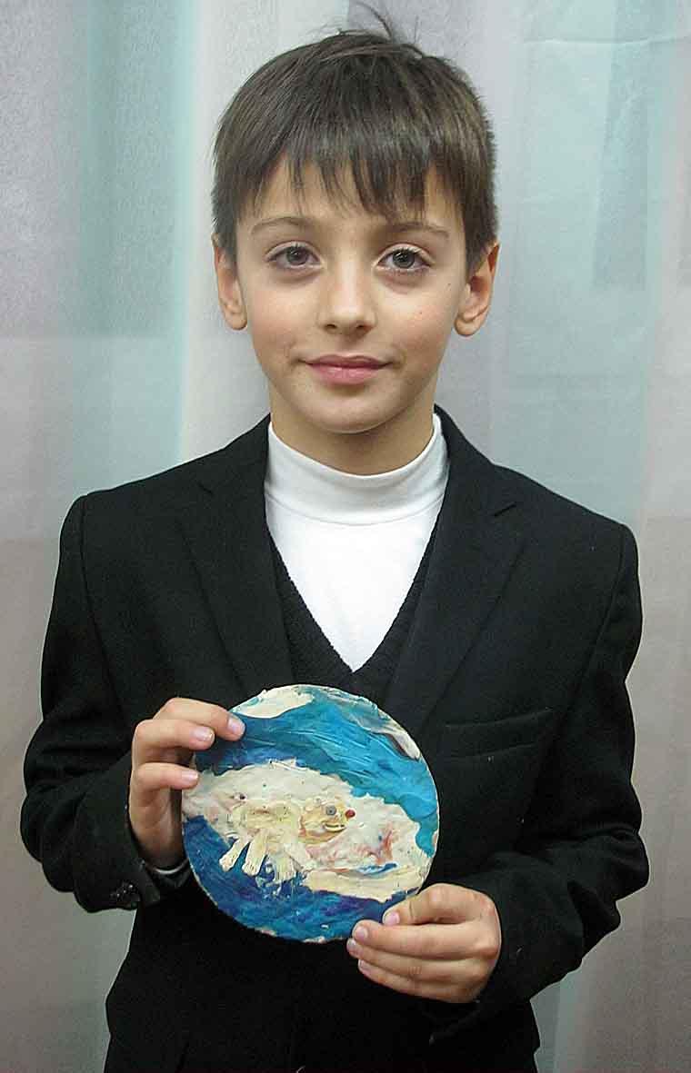 Охременко Тарас, 7 років. Білий ведмедик .